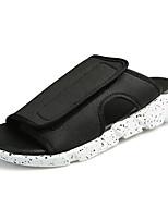 Men's Slippers & Flip-Flops Comfort Denim Summer Casual Comfort Flat Heel Black/White Black White Flat