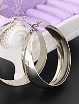 Dame Store øreringe Smykker Enkelt design kostume smykker Rustfrit Stål Cirkelformet Smykker Til Bryllup Fest Stadie Gade
