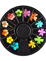 1PC Manicure Dried Flowers Ornament 12 Paragraph Black Rotary Table Loading