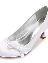 Femme Chaussures de mariage Confort Escarpin Basique Satin Printemps Eté Mariage Habillé Soirée & Evénement Noeud Fleur en Satin Fleur