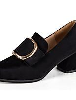 Femme Chaussures à Talons Confort Automne Polyuréthane Habillé Gros Talon Noir Bourgogne 7,5 à 9,5 cm
