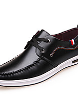 Men's Athletic Shoes Novelty PU Suede Spring Summer Athletic Casual Flat Heel Black/Green Black/Red Black Flat