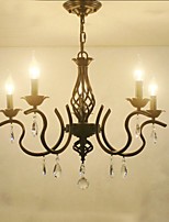 European Style Crystal Chandeliers Living Room Dining Lights  Simple Creative Candles Lamps And Lanterns Novelty Lightig