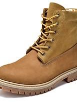 Для женщин Ботинки Модная обувь Ботильоны Армейские ботинки Натуральная кожа Наппа Leather Кожа Осень Зима Повседневные ШнуровкаНа