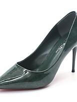 Femme Chaussures à Talons Semelles Légères Eté Automne Polyuréthane Décontracté Habillé Talon Aiguille Noir Vert Kaki Bourgogne 5 à 7 cm