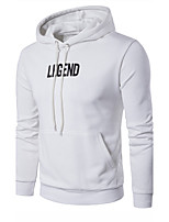 Men's Sports Outdoor Sports Plus Size Going out Casual/Daily Simple Hoodie Solid Hooded Micro-elastic Cotton Long Sleeve Spring Fall
