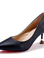 Women's Heels Light Soles PU Summer Dress Kitten Heel Blushing Pink Beige Black 1in-1 3/4in