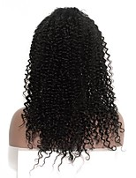 cheap -Human Hair Lace Front Wig Indian Hair Kinky Curly Wig With Baby Hair 120% Natural Hairline Short / Medium Length / Long Human Hair Lace Wig