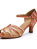 Da donna Balli latino-americani Seta Finta pelle Sandali Sneakers Professionale Perle false Strass Con fermaglio di chiusura A stiletto