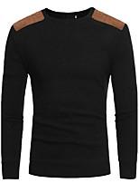 Herren Pullover Lässig/Alltäglich Einfach Solide Mikro-elastisch Baumwolle Lange Ärmel Herbst Winter