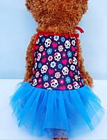 Dog Dress Dog Clothes Casual/Daily Skulls Black Orange Yellow Blue Light Blue
