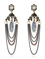 Women's Earrings Set Basic Tassel Metallic Rhinestone Alloy Jewelry For Party Gift Evening Party Club Street