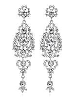 Femme Boucles d'oreille goutte Géométrique Mode Personnalisé Bijoux de Luxe Strass Alliage Forme Géométrique Bijoux Pour Mariage