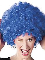 Parrucche sintetiche Senza tappo Medio Riccio Blu Parrucca riccia stile afro Per donne di colore Parrucca Cosplay costumi parrucche
