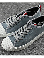 Men's Sneakers Comfort Spring Suede Casual Khaki Gray Black Flat