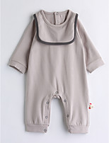 Baby Solid Color One-Pieces,Cotton Spring/Fall Long Sleeve