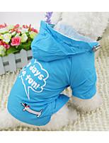 Cane Impermeabile Abbigliamento per cani Casual Lettere & Numeri Arancione Fucsia Blu