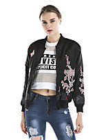 Maxlindy Women's Holiday Going out Casual/Daily Vintage Street chic Sophisticated Fall Winter Jacket