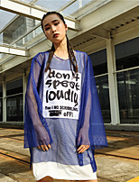 Women's Casual/Daily Simple T-shirt,Letter Round Neck Long Sleeves Others