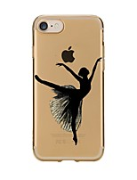 Para iPhone X iPhone 8 Case Tampa Transparente Estampada Capa Traseira Capinha Mulher Sensual Macia PUT para Apple iPhone X iPhone 8 Plus