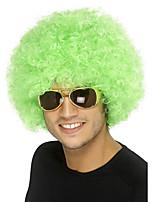 Parrucche sintetiche Senza tappo Medio Riccio Verde Parrucca riccia stile afro Per donne di colore Parrucca Cosplay costumi parrucche
