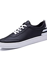 Men's Athletic Shoes Comfort Light Soles PU Summer Athletic Walking Comfort Light Soles  Flat Heel Black/Red Black/White Gray Flat