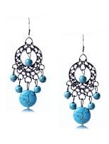 Damen Tropfen-Ohrringe Türkis Basis Kreisförmiges Anhänger Stil Modisch Klassisch Kreisform Runde Form Kugel Schmuck FürHochzeit Party