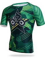 XINTOWN Cycling Jersey Men's Men's Short Sleeves Bike T-shirt Jersey Quick Dry UV resistant Stretchy Softness Sweat-Wicking Breathability
