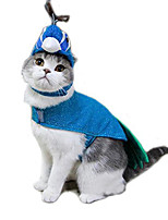 Cat Costume Dog Clothes Cosplay Animal Blue