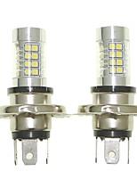 Sencart 2pcs H4 P43T Fog Driving Light Headlight Bulbs Lamps(White/Red/Blue/Warm White) (DC/AC9-32V)