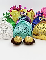 50pcs/lot Laser Cut Crown Style Wedding Box Party Favors Gift Box Wedding Favors Chocolate Candy Box Wedding Party Decoration Supplies