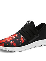 Men's Sneakers Running Comfort Fabric Spring Fall Athletic Casual Outdoor Gore Flat Heel Black/Red Black/White Black Flat