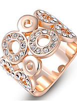 Dame Båndringe Rhinsten Enkelt design Klassisk Elegant Mode Personaliseret Sød Stil luksus smykker Legering Geometrisk form Smykker Til