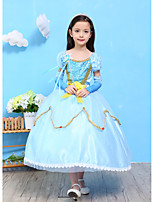 Girl's European Dollar Long Sleeve Gauze Dress