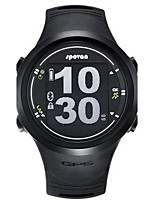 Men's Sport Watch Digital PU Band Black