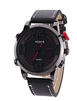 Herrn Sportuhr Modeuhr Armbanduhr Einzigartige kreative Uhr Armbanduhren für den Alltag Chinesisch Quartz Großes Ziffernblatt PU Band