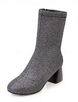 Damen Schuhe Kunstleder Frühling Winter Komfort Neuheit Stiefeletten Stiefel Blockabsatz Quadratischer Zeh Booties / Stiefeletten