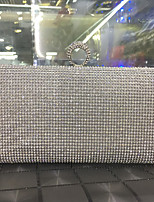 Women Bags All Seasons leatherette Evening Bag Rhinestone Sparkling Glitter for Wedding Event/Party Formal Gold Black Silver