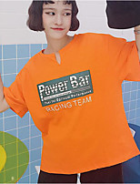 T-shirt Da donna Per uscire Semplice Estate,Alfabetico A V Cotone Mezza manica Sottile