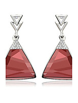 Drop Earrings Women's Fashion Triangle Style 2Colors Zircon Earrings For Office & Career Party Daily Movie Jewelry