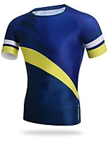 XINTOWN Cycling Jersey Men's Men's Short Sleeves Bike Jersey T-shirt Quick Dry Breathability UV resistant Stretchy Softness Sweat-Wicking