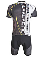 ILPALADINO Fahrradtriktot mit Fahrradhosen Herrn Kurzarm Fahhrad triathlon/Triathlon-Anzug Trisuit Rasche Trocknung YKK Reißverschluss 3D