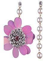 Per donna Orecchini a bottone Perle finte Di tendenza Mancata corrispondenza Lega A forma di fiore Gioielli Per Per eventi Per uscire