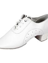 Da uomo Balli latino-americani Pelle Nappa Tacchi Sneaker Professionale Basso Bianco Personalizzabile