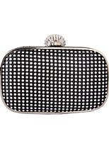 Women Bags All Seasons PC Evening Bag Rhinestone Metal Chain for Wedding Event/Party Formal Gold Black Silver