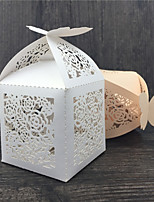 50 Favor Holder-Cubic Pearl Paper Favor Boxes