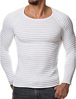 Normal Pullover Homme Sortie Décontracté / Quotidien Grandes Tailles Sexy simple,Couleur Pleine Col Arrondi Manches Longues Fausse