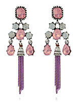 Women's Earrings Set Basic Tassel Personalized Rhinestone Alloy Jewelry For Gift Ceremony Evening Party Stage Club