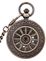 Men's Women's Pocket Watch Automatic self-winding Water Resistant / Water Proof Hollow Engraving Alloy Band Bronze