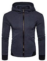 Men's Sports Casual/Daily Hoodie Solid Hooded Micro-elastic Cotton Long Sleeve Fall Winter